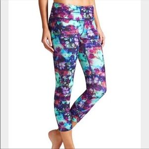 Athleta Fade Sonar floral leggings